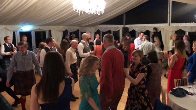 Dancing the night away at Ballogie House